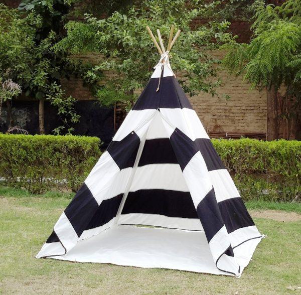 zebra teepee tent