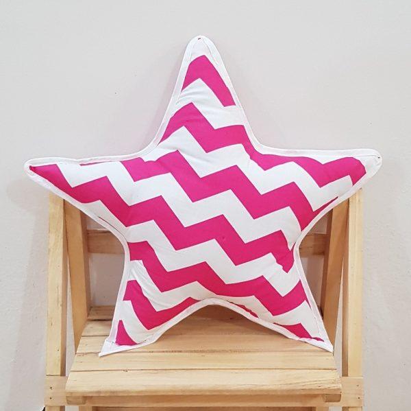 pink star pillow
