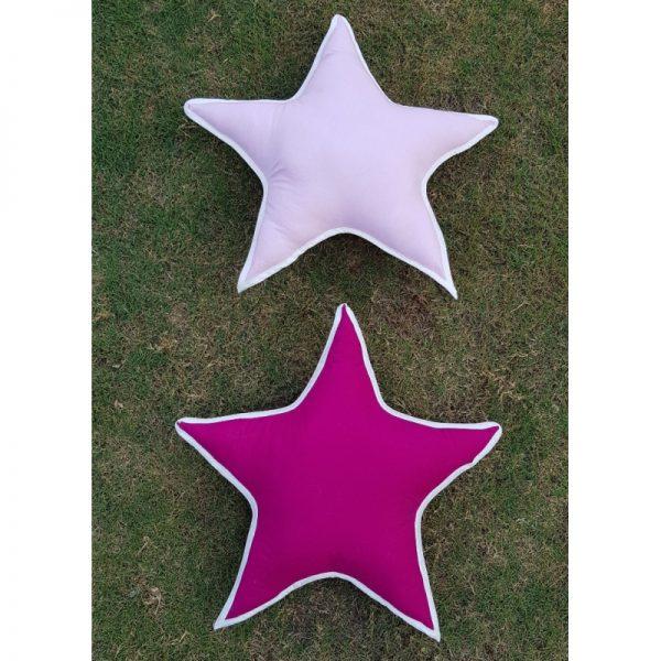 pink star pillows