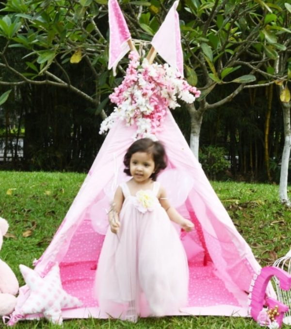 pink tent for girl